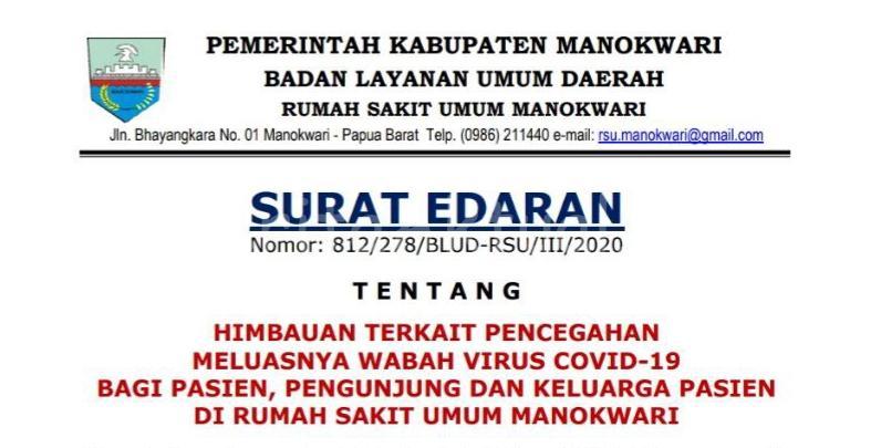 Cegah Penyebaran Corona Jam Besuk Pasien di RSUD Manokwari Ditiadakan 8 20200321 150935