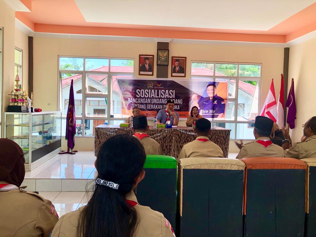 Kunjungi Kwarcab Kota Sorong, Rico Sia Sosialisasi RUU Gerakan Pramuka 2 IMG 20200313 WA0025
