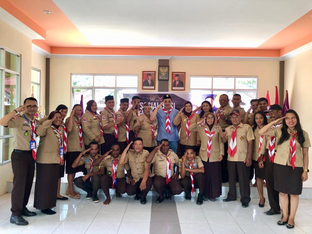Kunjungi Kwarcab Kota Sorong, Rico Sia Sosialisasi RUU Gerakan Pramuka 16 IMG 20200313 WA0027