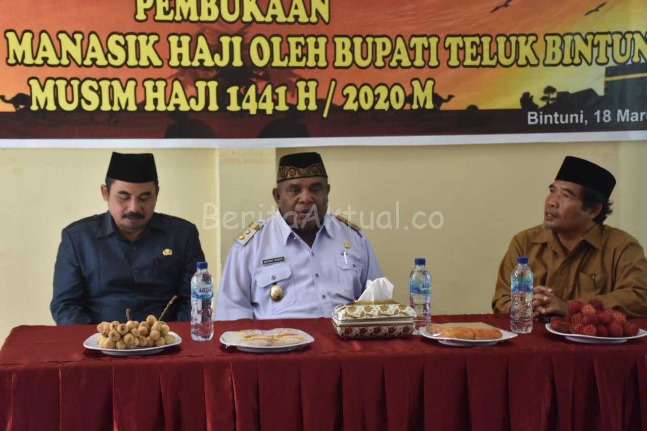 Buka Manasik Haji Kabupaten Bintuni, Ini Pesan Wakil Bupati 2 IMG 20200318 WA0022