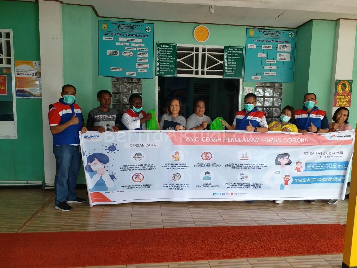 Peduli Cegah Corona, Pertamina Serahkan 200 Paket Bantuan di Puskesmas Imbi Jayapura 3 IMG 20200320 WA0115