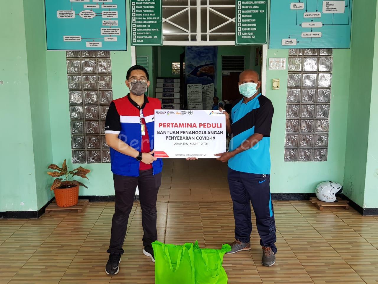 Peduli Cegah Corona, Pertamina Serahkan 200 Paket Bantuan di Puskesmas Imbi Jayapura 10 IMG 20200320 WA0118
