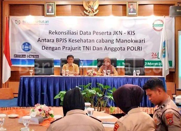 BPJS Kesehatan Manokwari Gelar Rekonsiliasi Data Peserta JKN - KIS Dengan TNI/Polri 1 IMG 20200320 WA0124