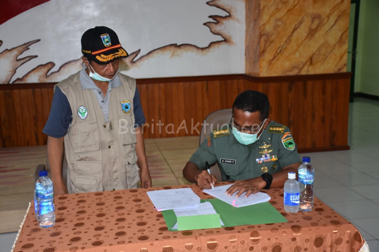 Kodam XVIII Kasuari Serahkan Bantuan APD Dan Masker Dari Gugus Tugas Nasional ke Dinkes PB 10 IMG 20200405 WA0013