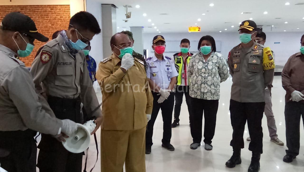 Walikota Sorong Ikut Pantau Pengoperasian Kembali Bandara DEO 1 IMG 20200414 WA0054