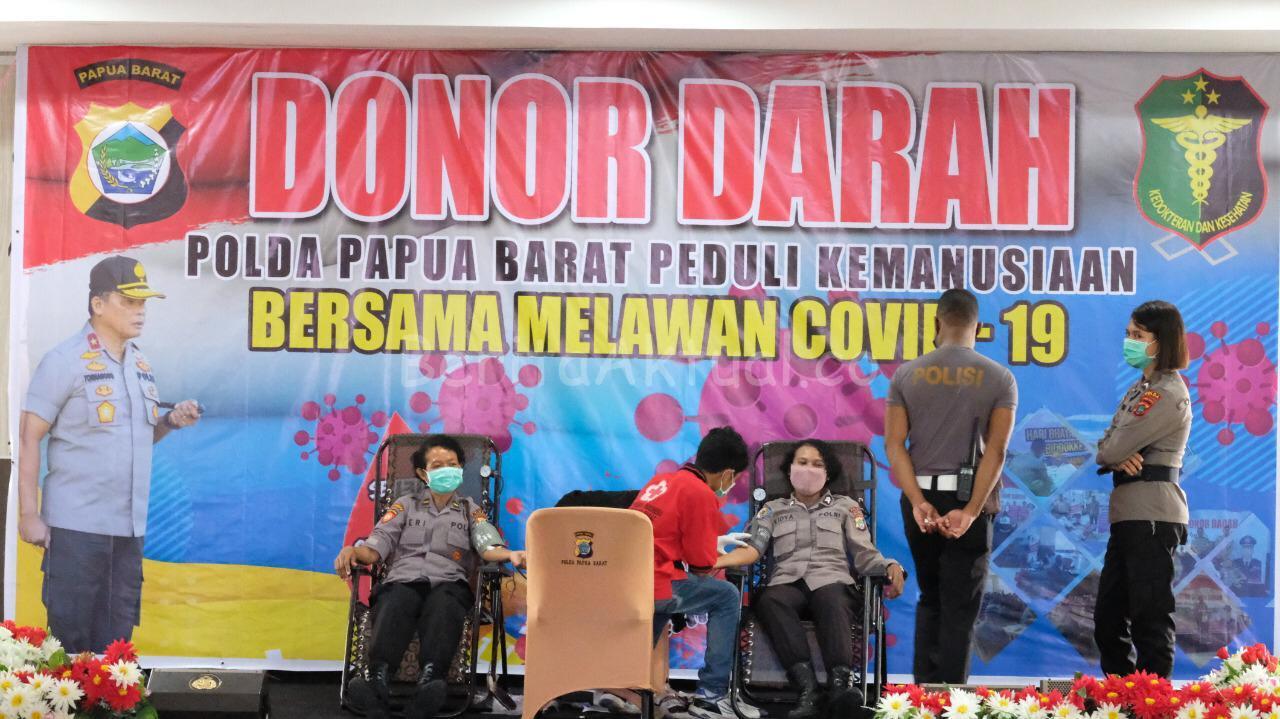 Bantu Stok PMI, Polda Papua Barat Lakukan Donor Darah 2 IMG 20200414 WA0060