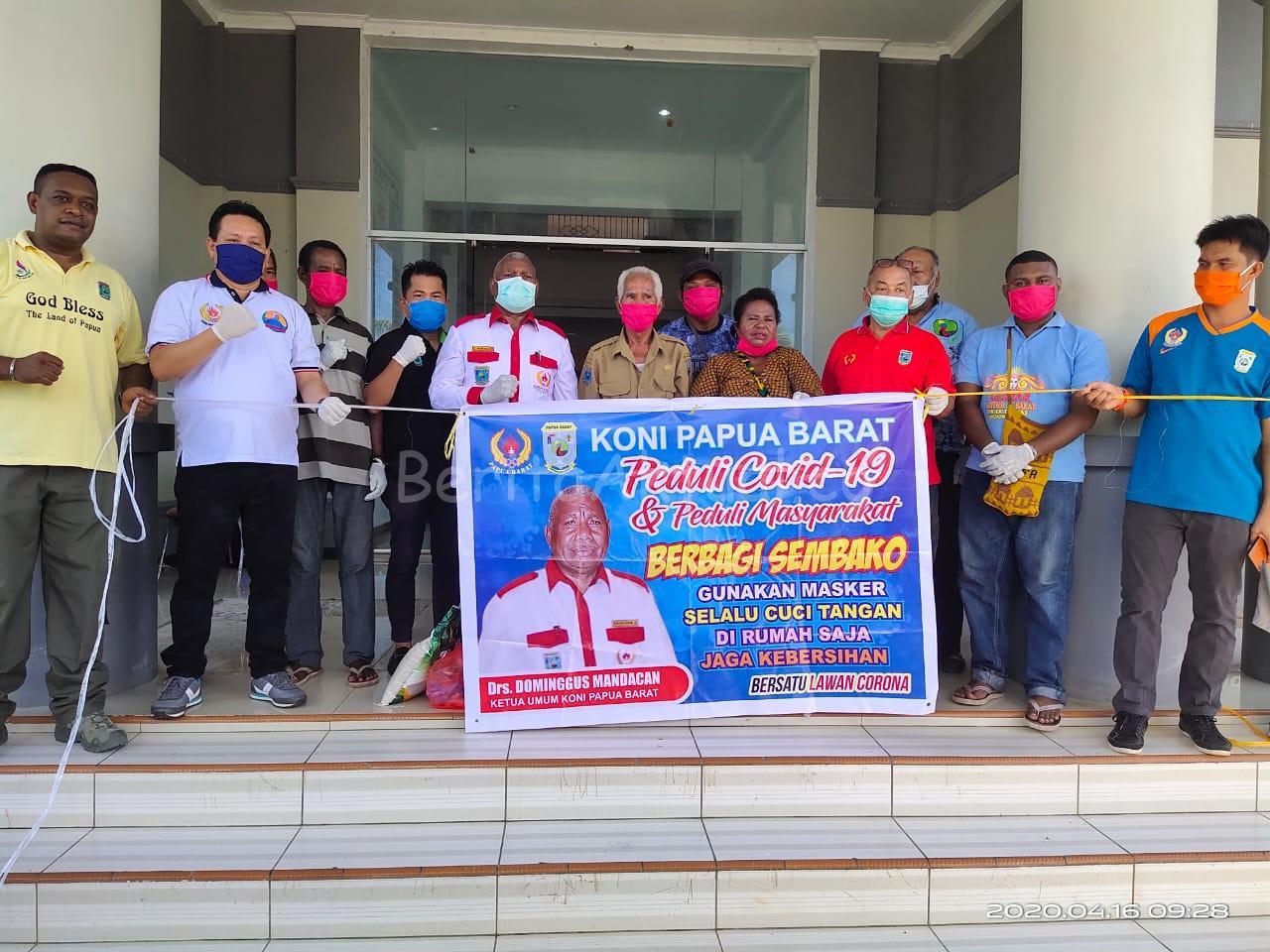 KONI PB Bagi 1.000 Paket Bama, Mandacan: Semoga Masyarakat Terbantu 15 IMG 20200416 WA0045