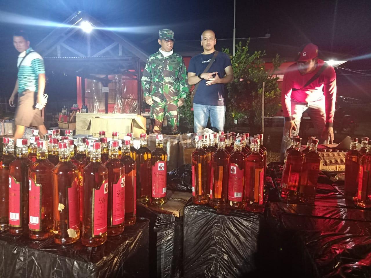 Kodam XVIII Kasuari Berhasil Amankan 4.115 Botol Miras Pabrikan 16 IMG 20200418 WA0001