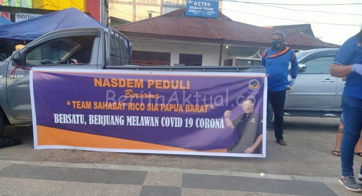 Peduli Corona, Partai NasDem Dan Sahabat Rico Sia Bagi APD Serta Takjil di Terminal Kota Sorong 2 20200503 184716