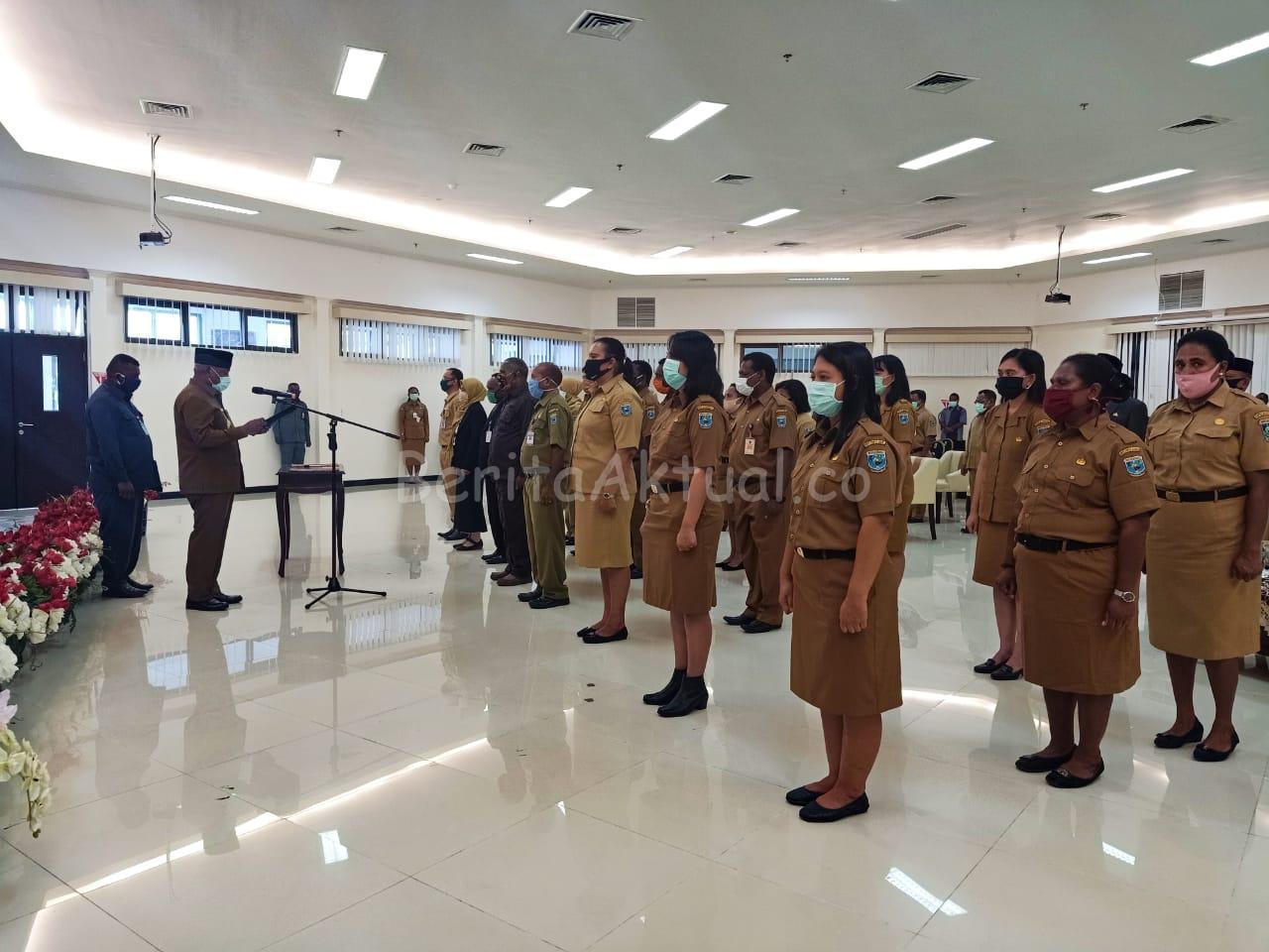 Pelantikan 45 Pejabat Dari 7 OPD Papua Barat Gunakan Masker 1 IMG 20200504 WA0020