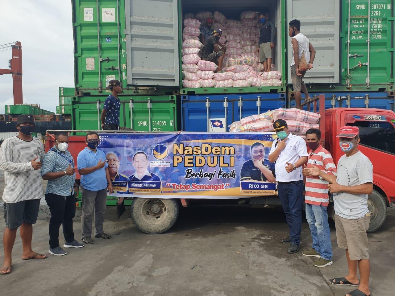 Sikapi Warga Terdampak C-19, 5000 Paket Bama Dari NasDem Peduli Dan Rico Sia Tiba di Sorong 1 IMG 20200519 WA0038