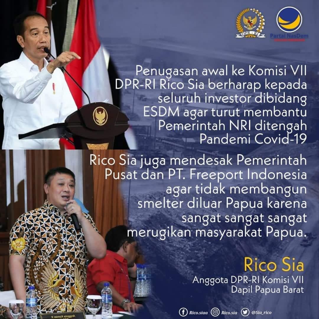 Bangun Smelter Diluar Papua, Rico Sia: Jelas Sangat Merugikan Papua 4 FB IMG 1592897740491