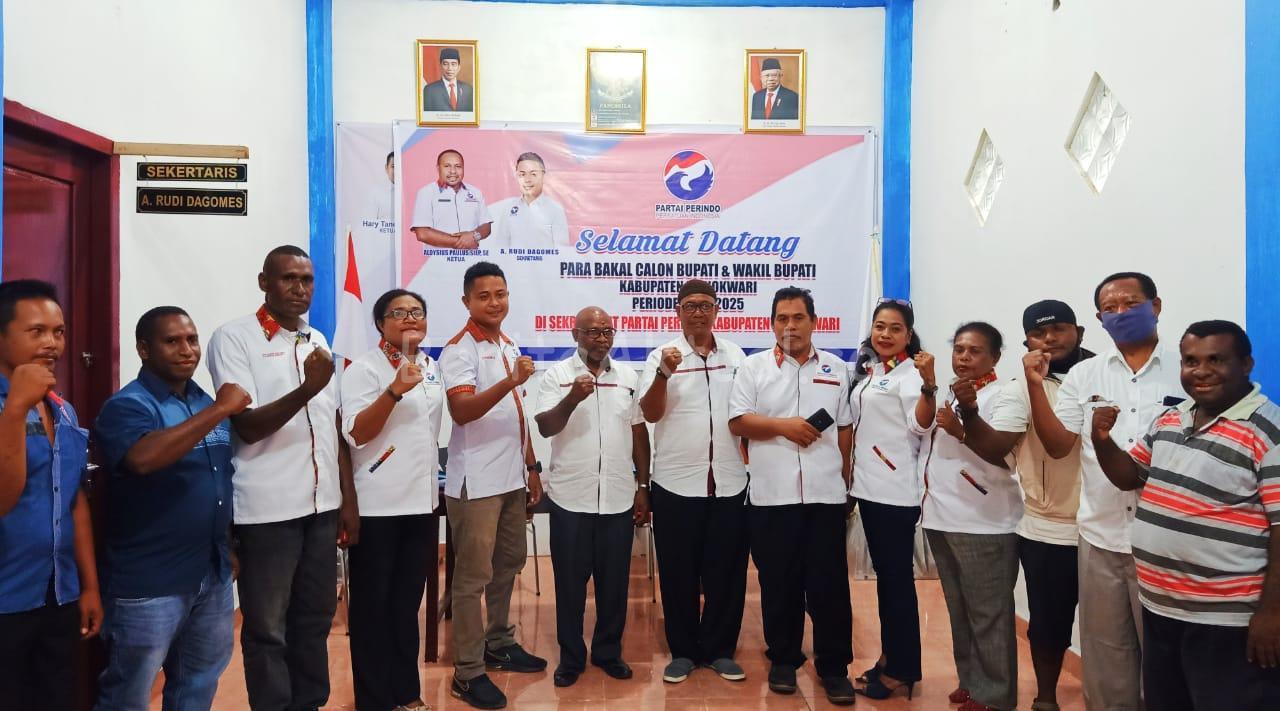 Siap Maju Pilkada 2020, Pasangan BW Mendaftar di DPD Perindo Manokwari 2 IMG 20200708 WA0037
