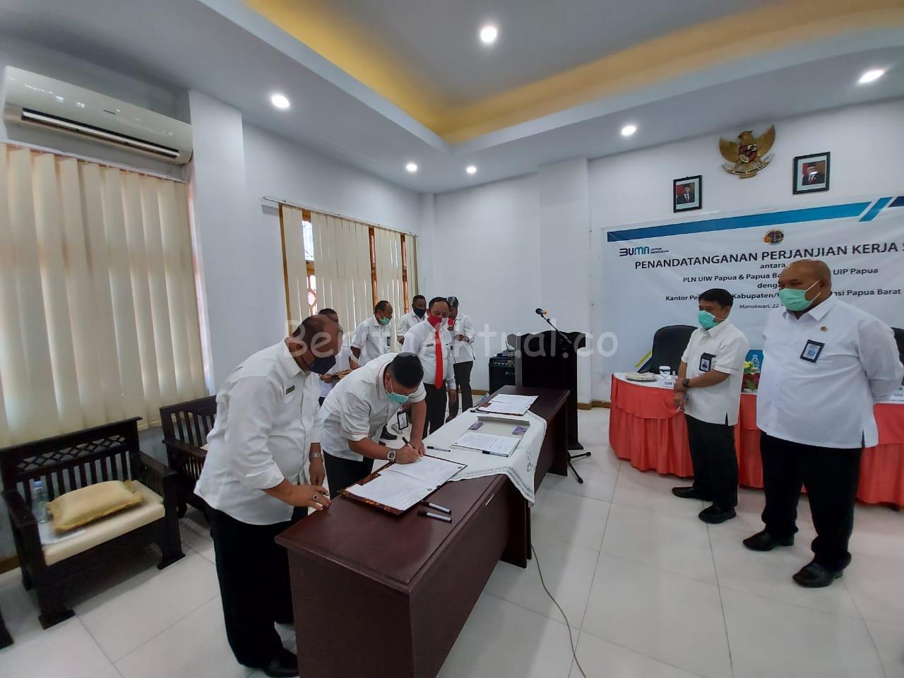 PLN Unit Papua Dan Papua Barat Teken MoU Bersama BPN Untuk Sertifikasi Tanah 1 IMG 20200722 WA0087