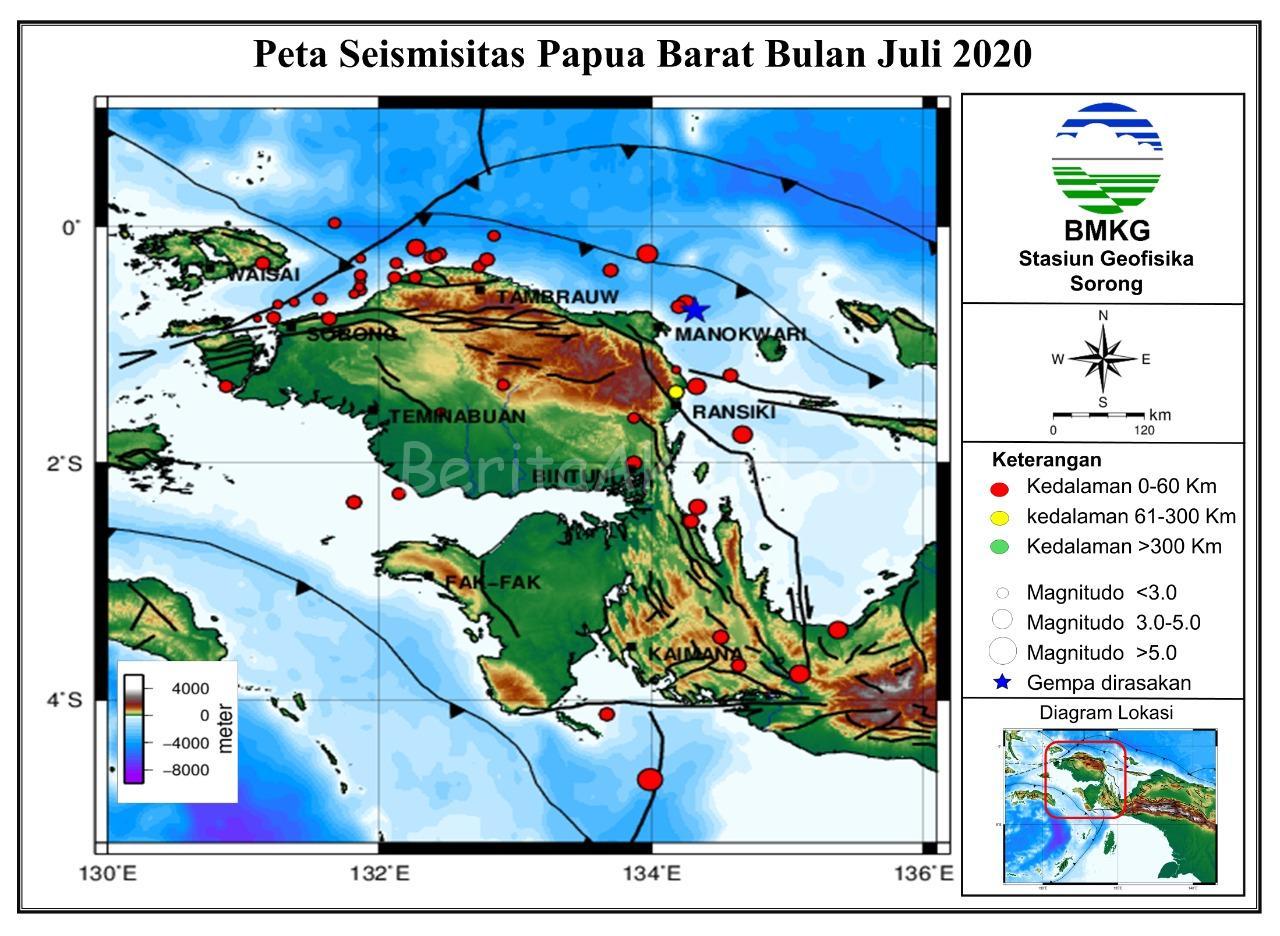 BMKG Catat Selama Juli 2020 Terjadi 53 Gempa Bumi di Papua Barat 4 IMG 20200804 WA0035