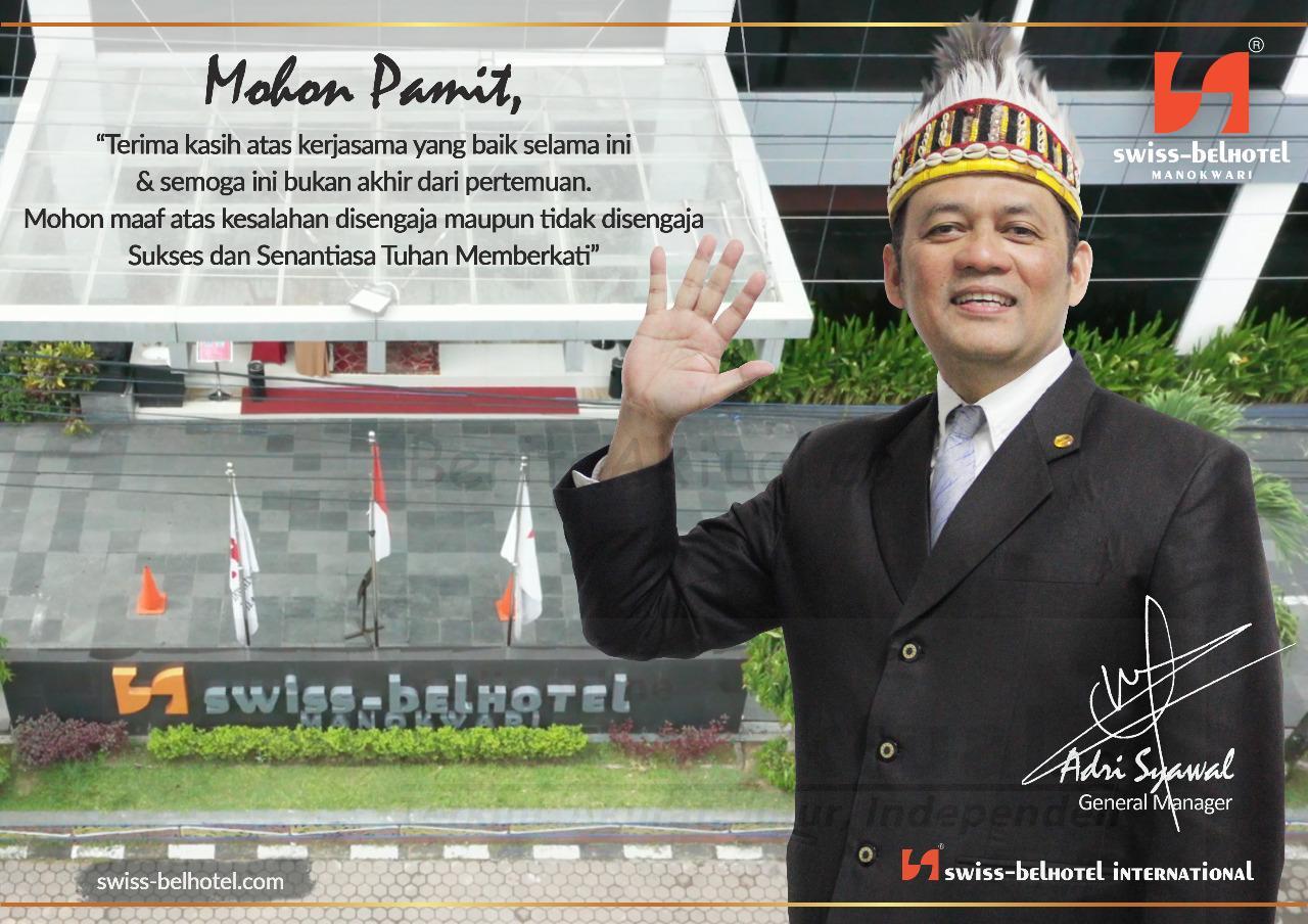 Lima Tahun Jadi GM di Swiss-Belhotel Manokwari, Andri Syawal Pindah ke Kota Manado 6 IMG 20200825 WA0055
