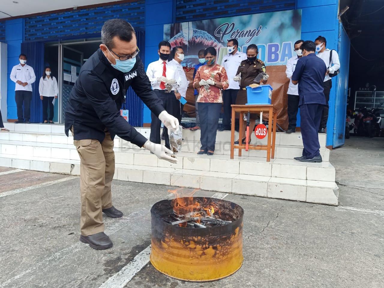 BNN Papua Barat Musnahkan 1.7 Kilogram Ganja 6 IMG 20200907 WA0030