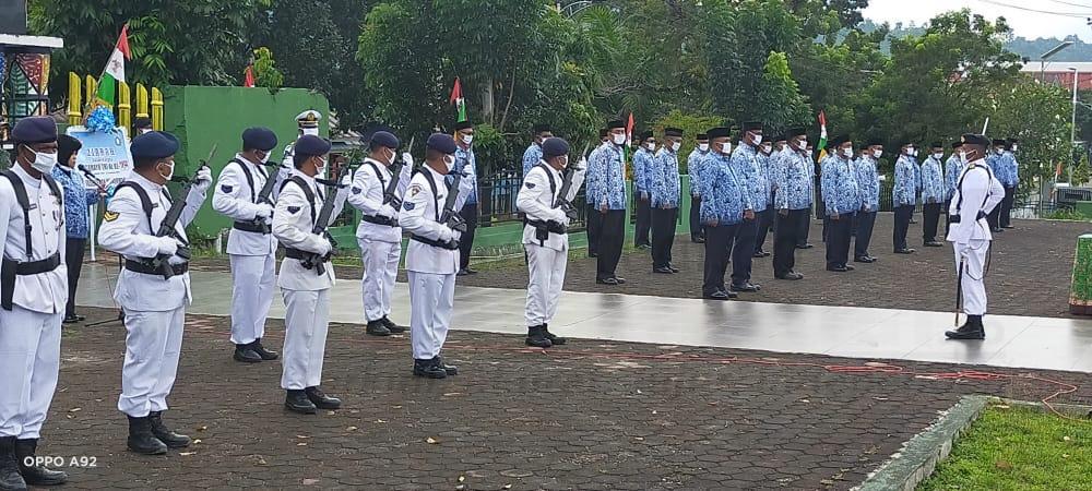 HUT TNI AL ke 75, Kafasharkan Manokwari Pimpin Ziarah ke TMP 1 IMG 20200910 WA0031