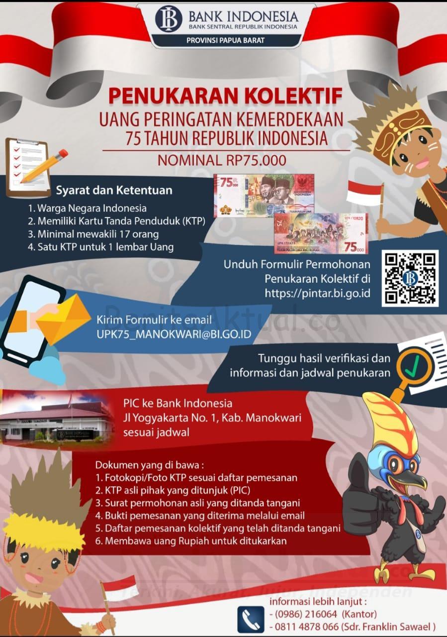 Uang Pecahan 75 Ribu Beredar, Kantor Perwakilan Bank Indonesia PB Percepat Penukaran 2 IMG 20200912 WA0041