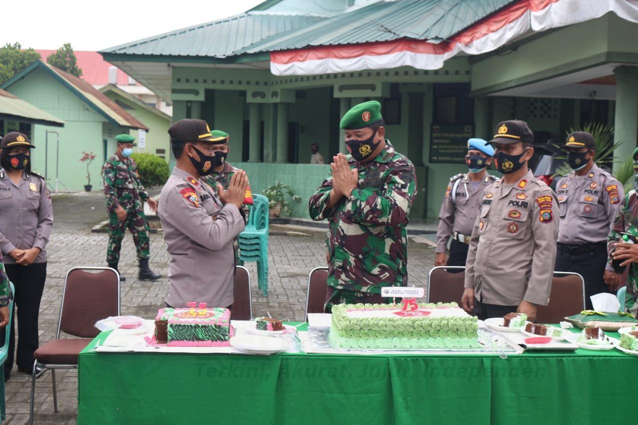Silaturahmi ke Subdenpom di HUT TNI 75, Kapolres Tebing Tinggi Sampaikan Ini 18 IMG 20201005 WA0026