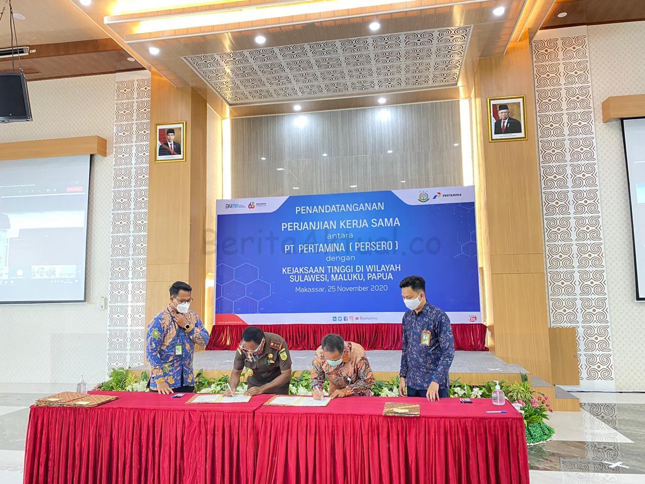 Jaga Kelancaran Proyek Strategis Nasional, PT Pertamina Teken MoU Dengan Kejagung 16 IMG 20201125 WA0054