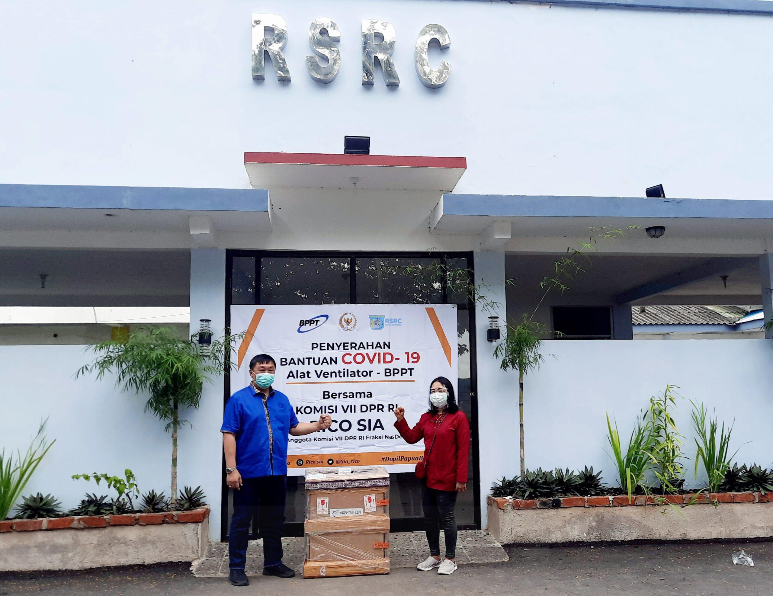 Bersinergi Bersama BPPT, Rico Sia Serahkan Ventilator di RSRC Kota Sorong 1 20201224 151721 scaled