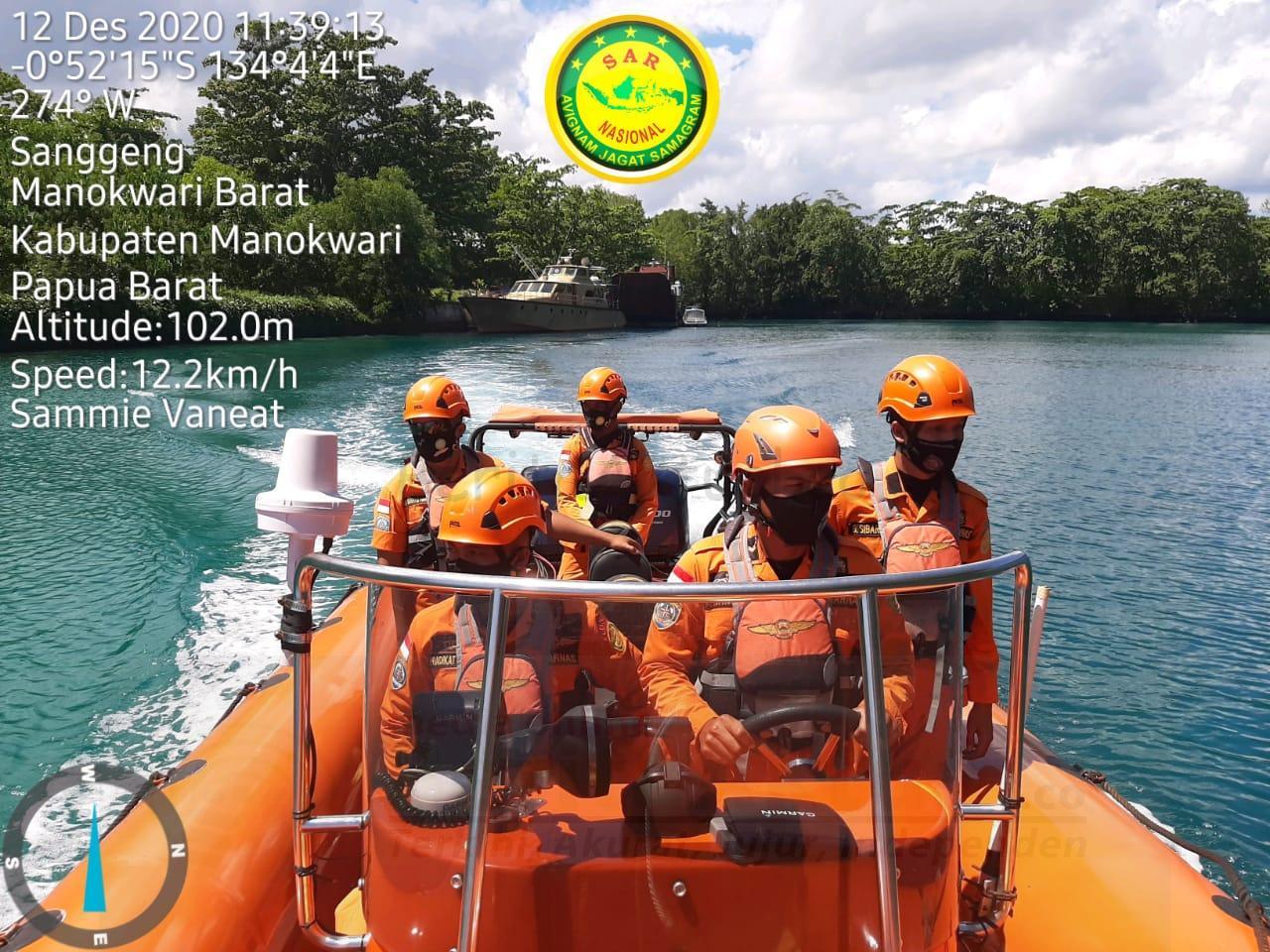 Basarnas Manokwari Cari Orang Hilang di Perairan Pulau Kaki 1 IMG 20201212 WA0012