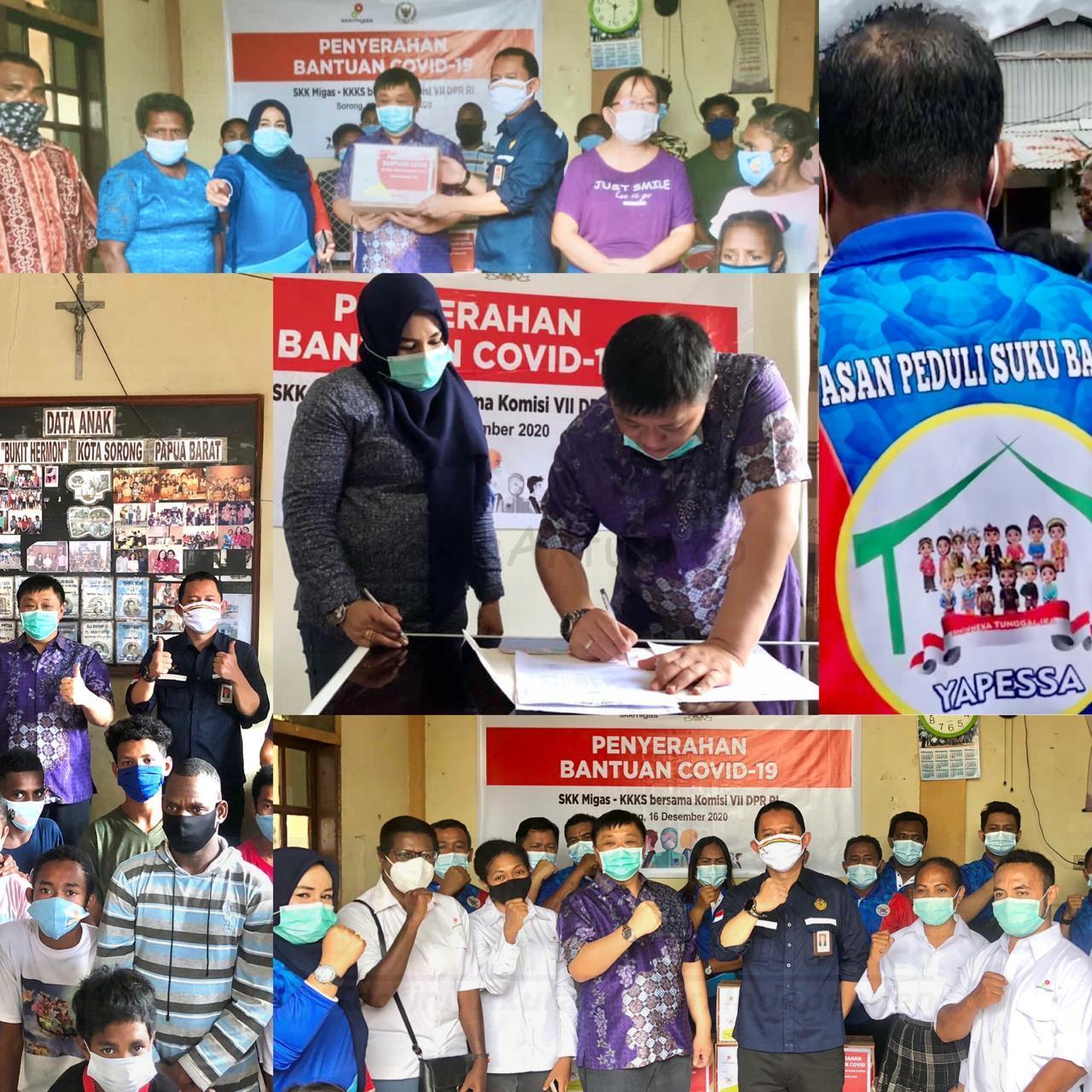 Di Bulan Kasih, SKK Migas Bersinergi Bersama DPR-RI Komisi VII Berbagi Bantuan COVID di Sorong 2 IMG 20201216 WA0107 1