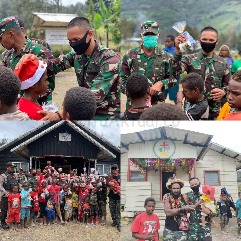 Prajurit Raider 500/Sikatan Bagi Bingkisan Untuk Anak Sekolah Minggu di Distrik Sinak Papua 4 IMG 20201224 1