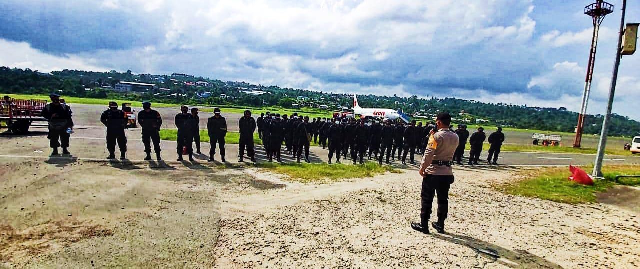 Usai Backup Pilkada di Papua Barat 200 Personel BKO Brimob Polda Bali Dan Yogyakarta Dipulangkan 1 IMG 20201231 WA0045