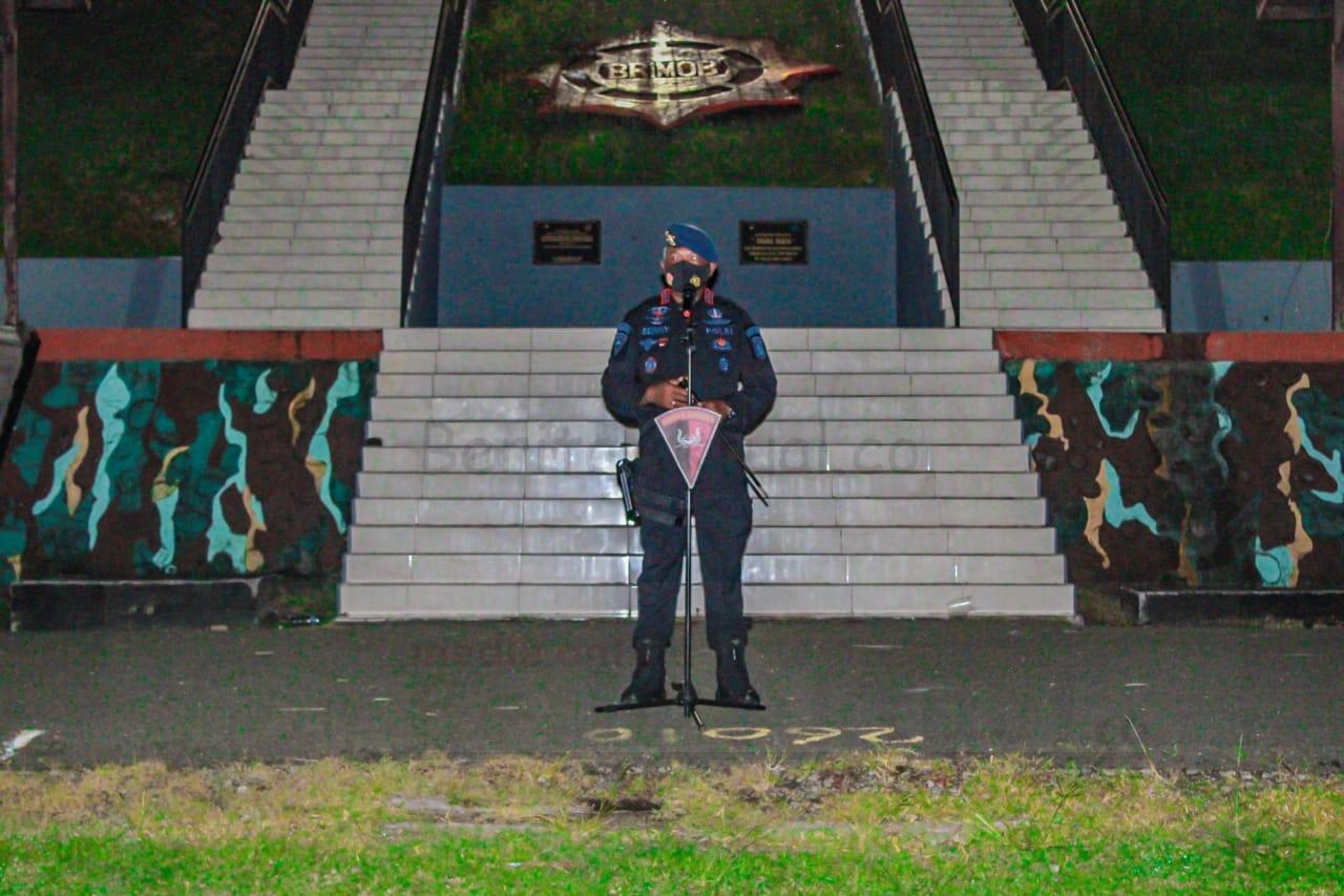 Brimob Polda Papua Barat, Serentak Laksanakan Apel Kesiapsiagaan Kontijensi Antisipasi Gangguan Kamtibmas 7 IMG 20210103 WA0053
