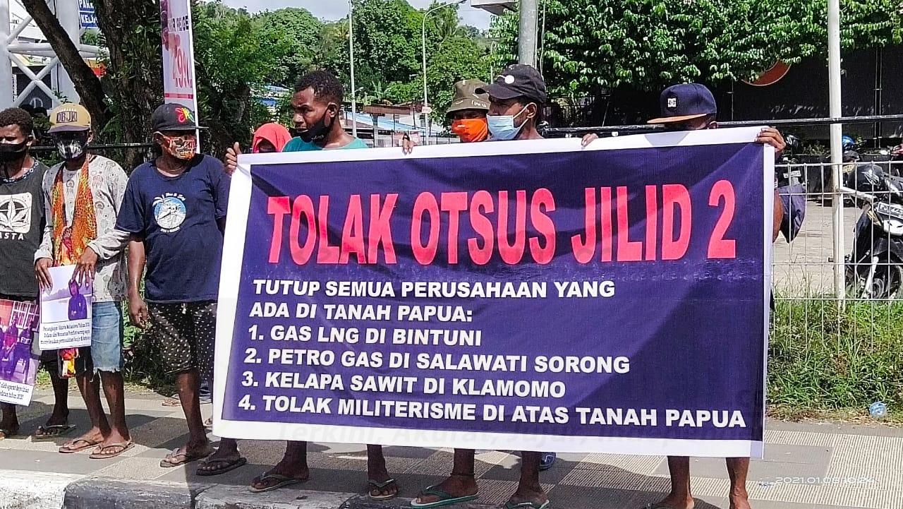 Front Papua Tolak Otsus Kembali Gelar Aksi Turun ke Jalan 3 IMG 20210108 WA0058