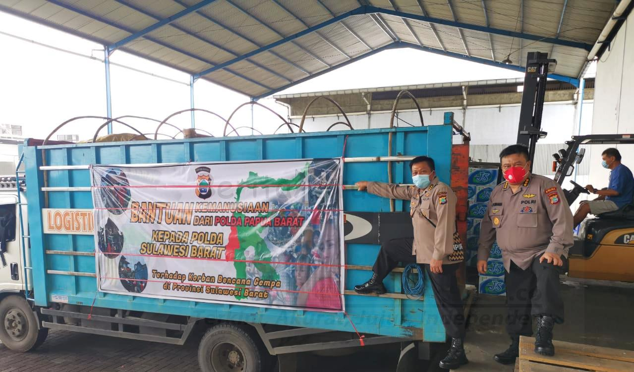 Polda Papua Barat Kirim Bantuan Sosial ke Sulbar Dan Kalsel Senilai 500 Juta 1 IMG 20210124 090908