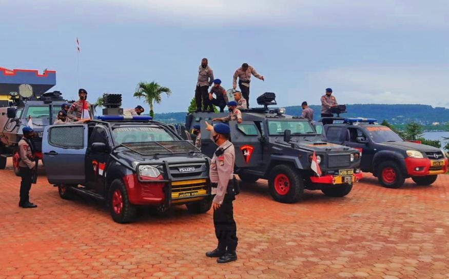 Brimob Polda Papua Barat Latihan Meningkatkan Kelihaian Gunakan Senjata Vulcano 7 IMG 20210127 005119