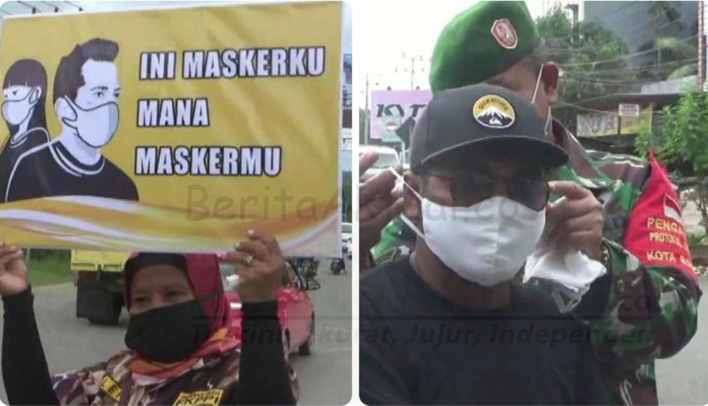 Ingatkan Warga Jaga Prokes, Korem 181 PVT Bagi 1000 Masker Gratis 4 20210201 154809