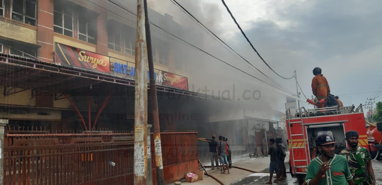 Toko Swalayan Jawa Timur di Kompleks At-Taqwa Kota Sorong Terbakar 1 IMG 20210226 WA0028