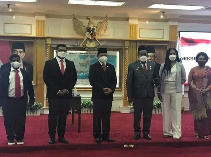 Lantik Dance Y Flassy Jadi Sekda Papua, Mendagri Harap Jaga Komunikasi Untuk Stabilitas Keamanan 1 IMG 20210301 WA0080