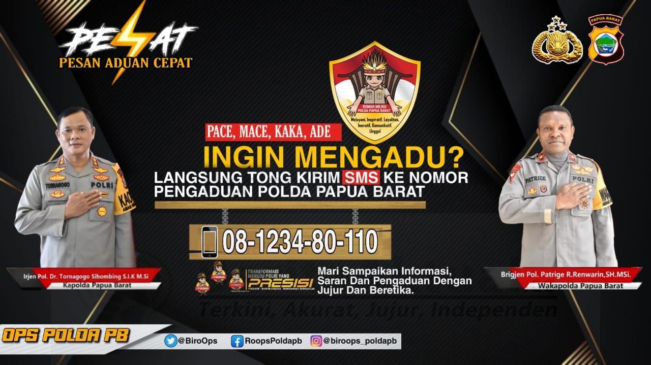 Ini Layanan SMS Pengaduan Masyarakat ke Polisi Hasil Inovasi Polda Papua Barat 1 IMG 20210303 WA0081