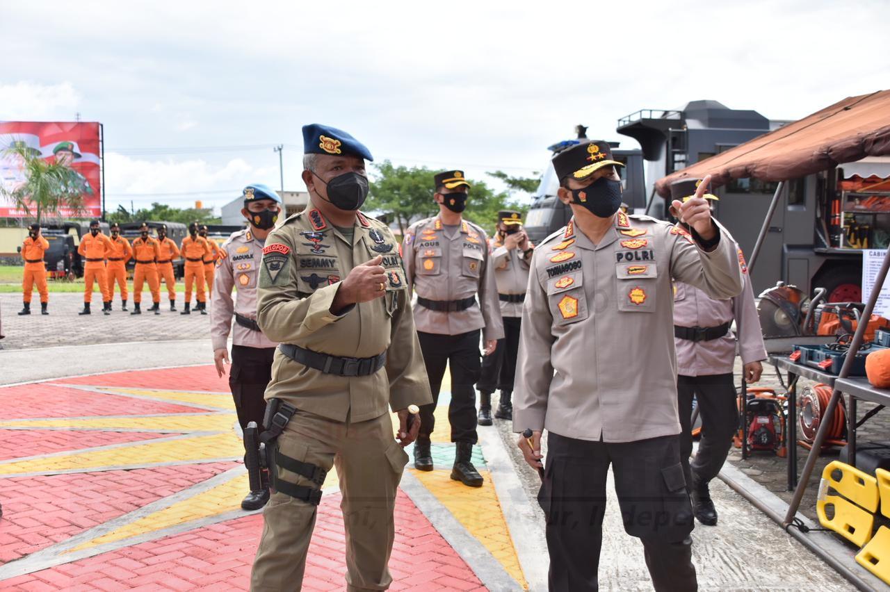 Kapolda PB: Anggota TNI, Polri Dan Basarnas Latih Kesiapan Tanggap Bencana 1 IMG 20210317 WA0125