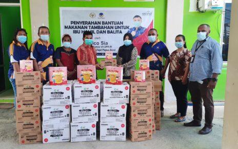 Rico Sia Salurkan Makanan Tambahan Untuk Ibu Hamil Dan Balita ke Empat Puskesmas Kota Sorong 29 20210422 120216