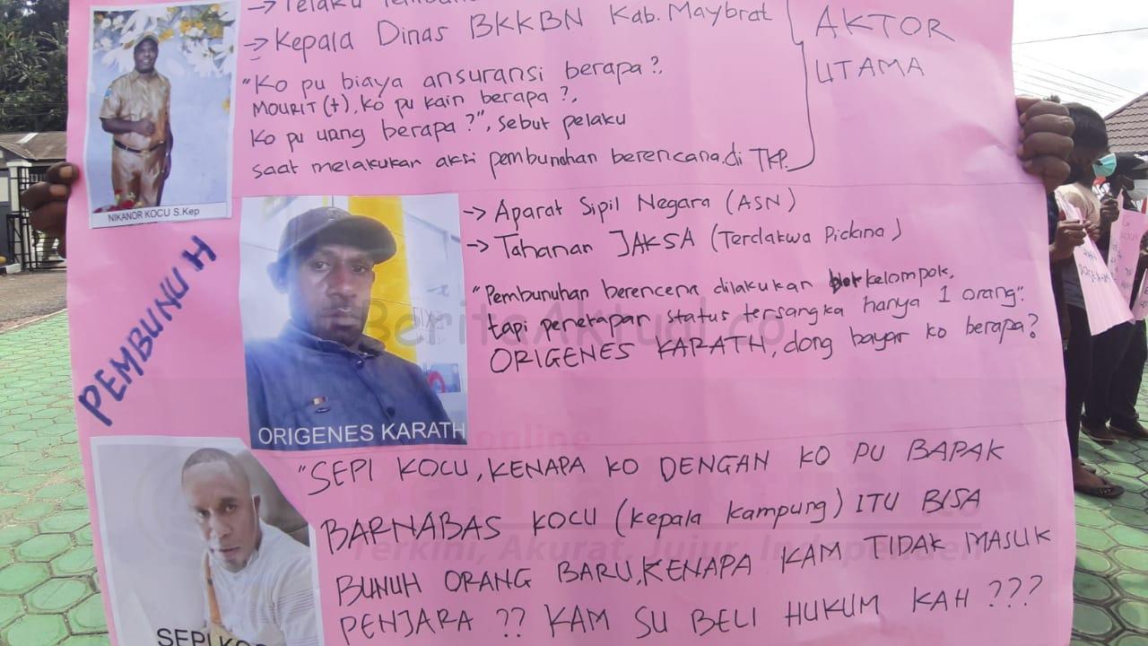 Tak Puas, Keluarga Korban Pembunuhan di Aifat Minta Kejari Sorong Bersikap Adil 4 IMG 20210607 WA0038