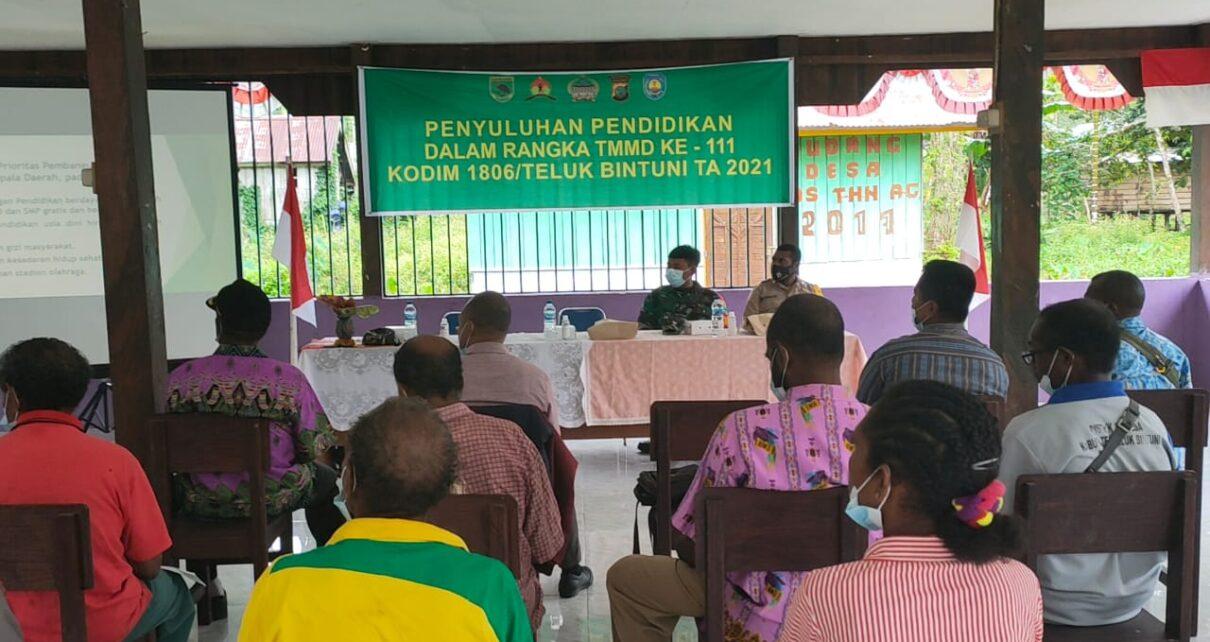 Kodim 1806/Bintuni Gandeng Dinas Pendidikan Beri Penyuluhan ke Masyarakat di Kampung Idoor 3 IMG 20210621 WA0028