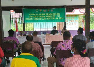 Kodim 1806/Bintuni Gandeng Dinas Pendidikan Beri Penyuluhan ke Masyarakat di Kampung Idoor 25 IMG 20210621 WA0028