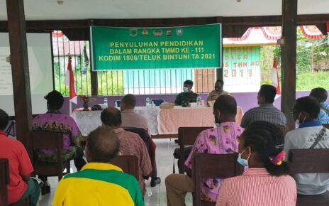 Kodim 1806/Bintuni Gandeng Dinas Pendidikan Beri Penyuluhan ke Masyarakat di Kampung Idoor 10 IMG 20210621 WA0028