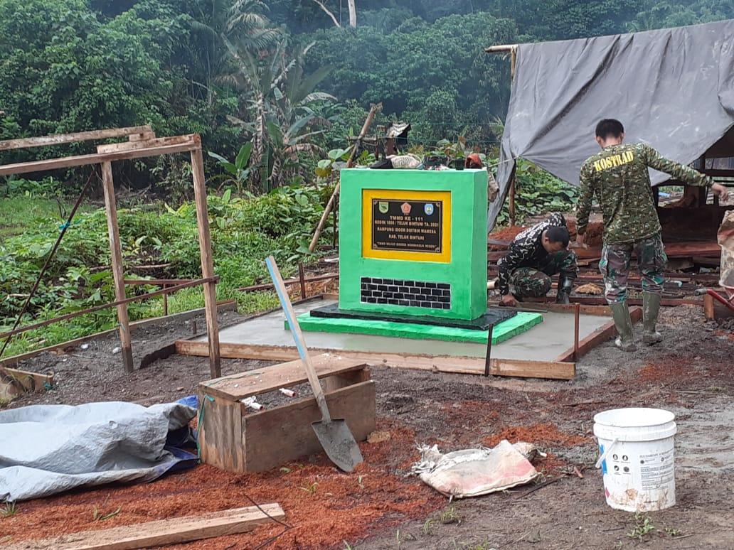 Tim Wasev Sterad Tinjau Perkembangan Program TMMD di Kampung Idoor Bintuni 5 IMG 20210710 WA0064