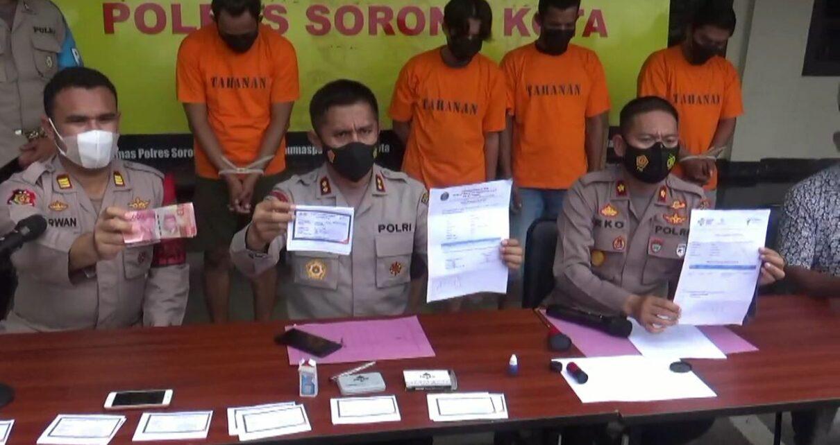 Pembuat Dan Pengguna Dokumen Covid-19 Palsu Diamankan Polresta Sorong 4 IMG 20210722 WA0052