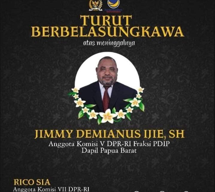 Jimmy Demianus Ijie (JDI) Meninggal Dunia, Rico Sia: Papua Barat Kehilangan 1 Putra Terbaik 1 IMG 20210723 WA0073