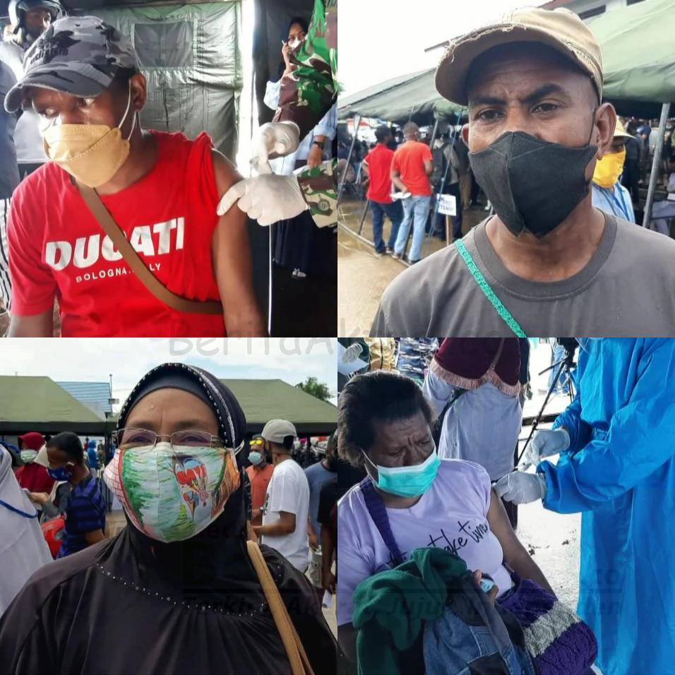 Ribuan Warga Kota Sorong Ikut Serbuan Vaksinasi Massal TNI AL Gratis 4 IMG 20210706 2