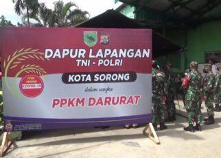 Selama PPKM Kota Sorong, TNI-POLRI Aktifkan Dapur Umum Bagi 400 Kotak Makanan Per Hari 16 IMG 20210802 WA0011