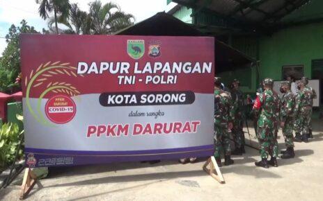 Selama PPKM Kota Sorong, TNI-POLRI Aktifkan Dapur Umum Bagi 400 Kotak Makanan Per Hari 3 IMG 20210802 WA0011